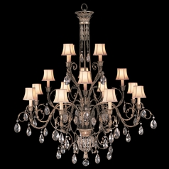 Fine Art Lamps a Midsummer Nights Dream Cool Moonlit Patina Crystal Chandelier