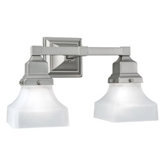 Norwell Lighting Birmingham Brush Nickel Bathroom Light