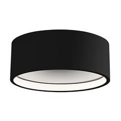 Modern Black LED Flushmount Light 3000K 880LM
