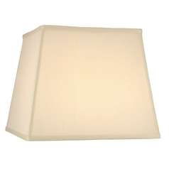 Cream Silk Square Lamp Shade with Spider Assembly