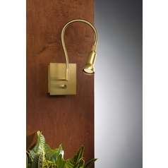 Holtkoetter Modern Wall Lamp in Antique Brass Finish