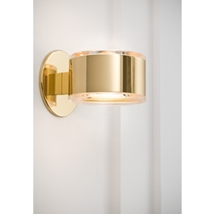 Holtkoetter Modern Sconce Wall Light in Polished Brass Finish
