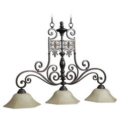 Quorum Lighting Marcela Oiled Bronze Island Light