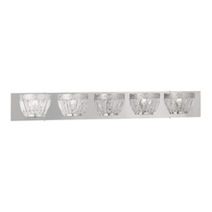 Livex Lighting Chromata Chrome Bathroom Light