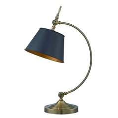 Lite Source Hassan Antique Brass Table Lamp with Empire Shade