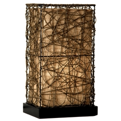 Stylecraft Beige Rattan Accent Lamp