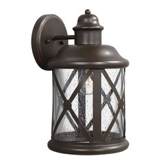 Sea Gull Lighting Lakeview Antique Bronze Outdoor Wall Light