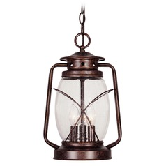Savoy House New Tortoise Shell Outdoor Hanging Light