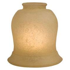 Aged Champagne Bell Glass Shade 2.25-Inch Fitter