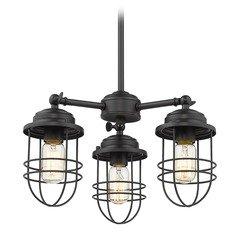 Golden Lighting Seaport Black Mini-Chandelier