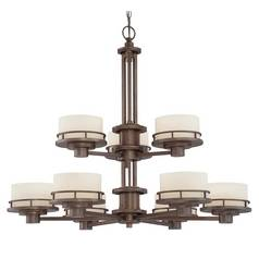Dolan Designs Lighting Nine-Light Two-Tier Bronze Chandelier 2912-206