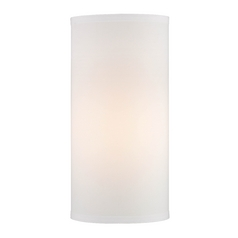 16-Inch Tall White Linen UNO Lamp Shade