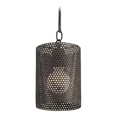 Currey and Company Whitton Mole Black Mini-Pendant Cylindrical Shade