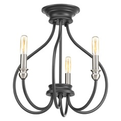 Progress Lighting Whisp Graphite with Brushed Nickel Accents Semi-Flushmount Light