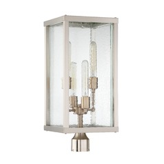Seeded Glass Post Light Brushed Nickel / Brass Craftmade Lighting