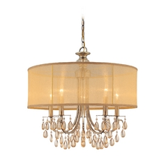 Crystorama Antique Brass Hampton 5-Light Chandelier