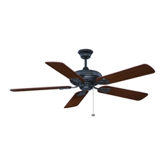 Ceiling Fan Without Light in Aged Bronze Finish
