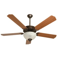 Craftmade Pro Builder 207 Oiled Bronze Ceiling Fan with Light