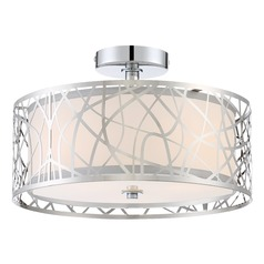 Quoizel Lighting Platinum Collection Abode Polished Chrome Semi-Flushmount Light