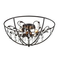 Elk Lighting Bridget Oil Rubbed Bronze Semi-Flushmount Light