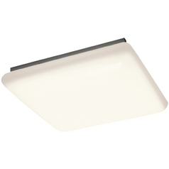 Kichler Modern Flushmount Light with White Acrylic in White Finish
