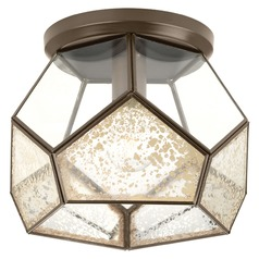 Art Deco Semi-Flushmount Light Bronze Cinq by Progress Lighting