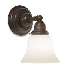 Transitional LED Sconce Bronze with Bell Glass