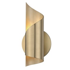 Mid-Century Modern LED Sconce Brass Mitzi Evie by Hudson Valley