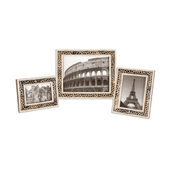 Uttermost Lighting Decorative Photo Frames with Giraffe Pattern - Set of Three 18531