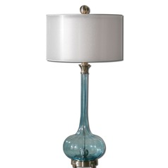 Uttermost Junelle Blue Glass Table Lamp