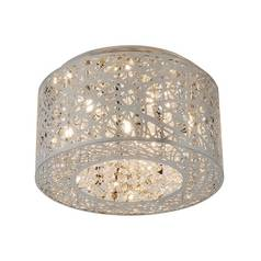 Flushmount Ceiling Light with Crystal Accents