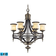 Elk Lighting Georgian Court Antique Bronze, Dark Umber LED Chandelier