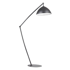 LED Arc Lamp in Matt Black Finish