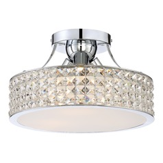 Quoizel Lighting Platinum Collection Alexa Polished Chrome Semi-Flushmount Light