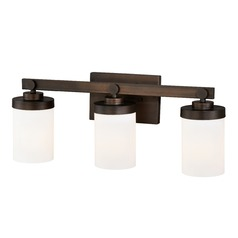 Sorin Architectural Bronze Bathroom Light by Vaxcel Lighting