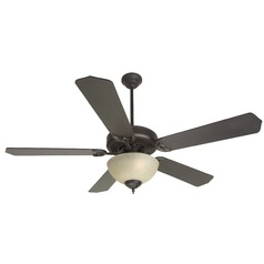 Craftmade Pro Builder 208 Oiled Bronze Ceiling Fan with Light