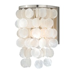 Elsa Satin Nickel Sconce by Vaxcel Lighting