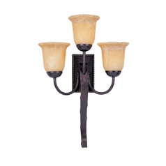 Maxim Lighting Sconce Wall Light with Amber Glass in Oil Rubbed Bronze Finish 20619VAOI