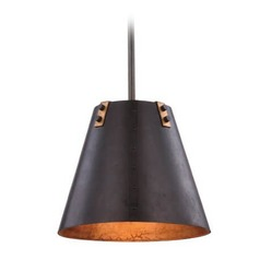 Vintage Bronze & Golden Iron Pendant Light