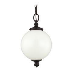 Feiss Lighting Parkman Oil Rubbed Bronze Mini-Pendant Light with Globe Shade