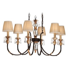 Metropolitan Bella Cristallo French Bronze W/ Gold Highligh Chandelier