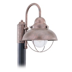 Marine / Nautical Seeded Water LED Post Light Copper Sebring by Sea Gull Lighting