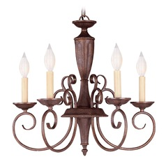 Savoy House Walnut Patina Mini-Chandelier