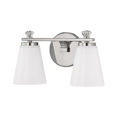 Capital Lighting Alisa Polished Nickel Bathroom Light