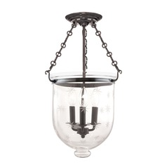Hudson Valley Lighting Hampton Historic Nickel Semi-Flushmount Light