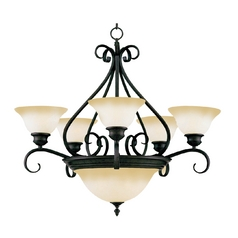 Maxim Lighting Pacific Kentucky Bronze Chandeliers with Center Bowl