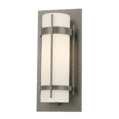 Outdoor Wall Light in Iron Finish - 15-4/5 Inches Tall