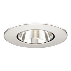 Clear Adjustable Reflector Trim with Chrome Ring for 3.5-Inch Recessed Cans