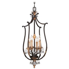 Metropolitan Bella Cristallo French Bronze W/ Gold Highligh Pendant Light
