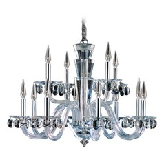 Art Deco Crystal Chandelier Chrome Fanshawe by Allegri Crystal